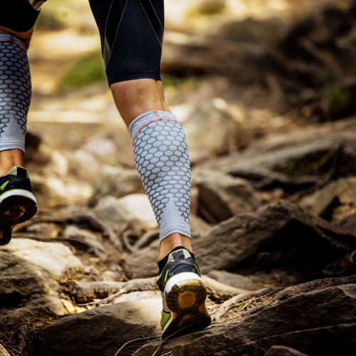 Marathon runner in mountain